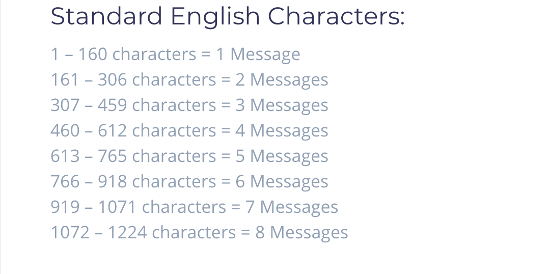 How many characters can I send in an SMS?